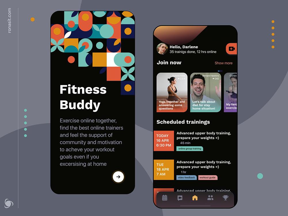12组运动健身类App界面设计