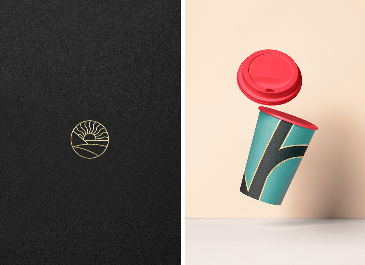 现代极简!咖啡包装设计