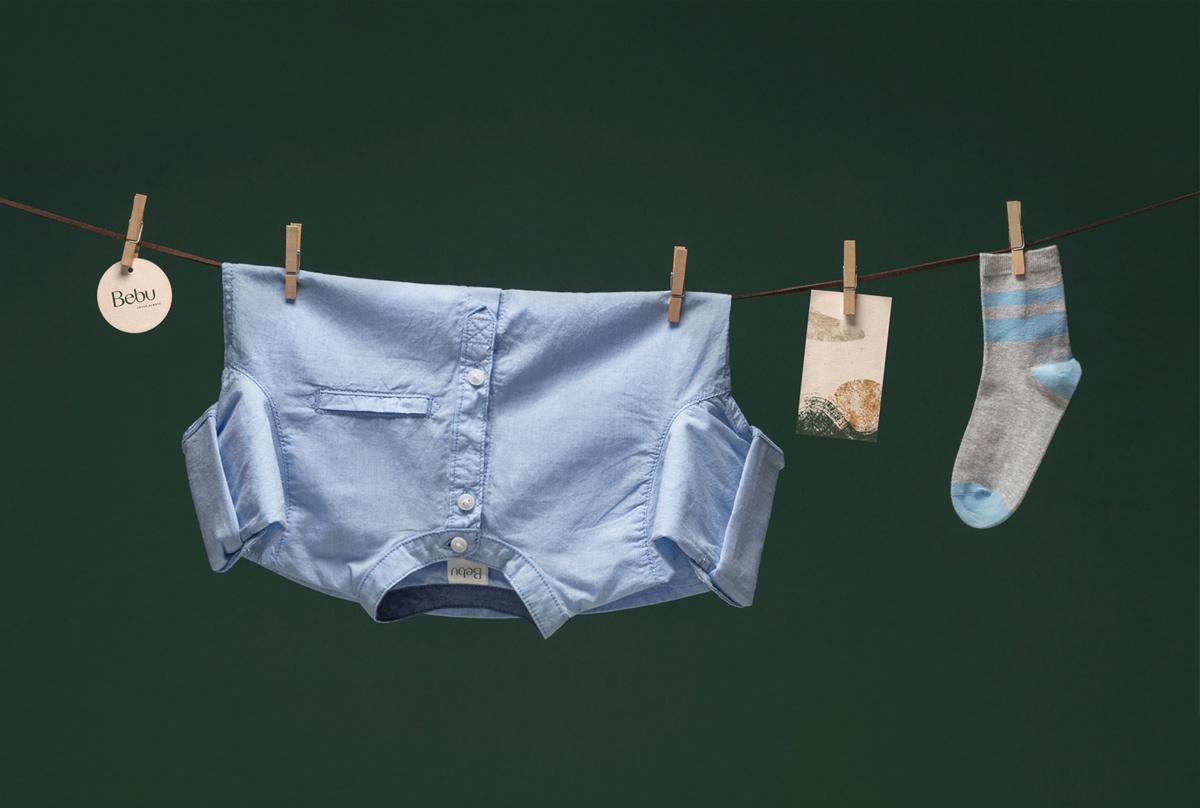 冷静色彩!婴儿服装品牌VI设计