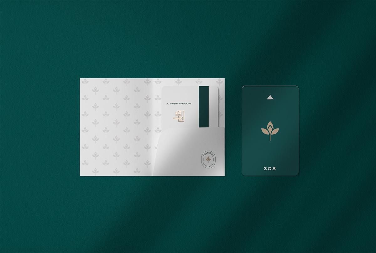 宁静绿色!度假别墅品牌VI设计