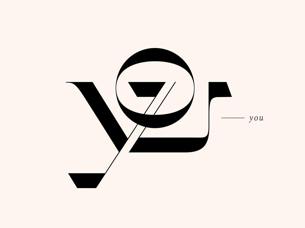 优雅线条!20款巧妙融合字体设计