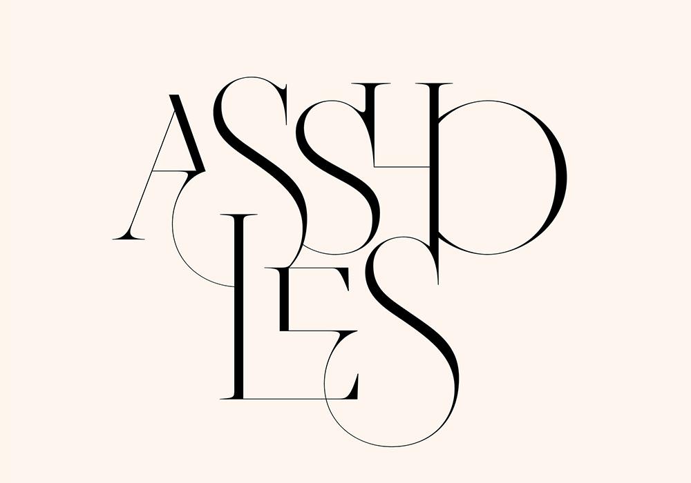 优雅线条!16款巧妙融合字体设计