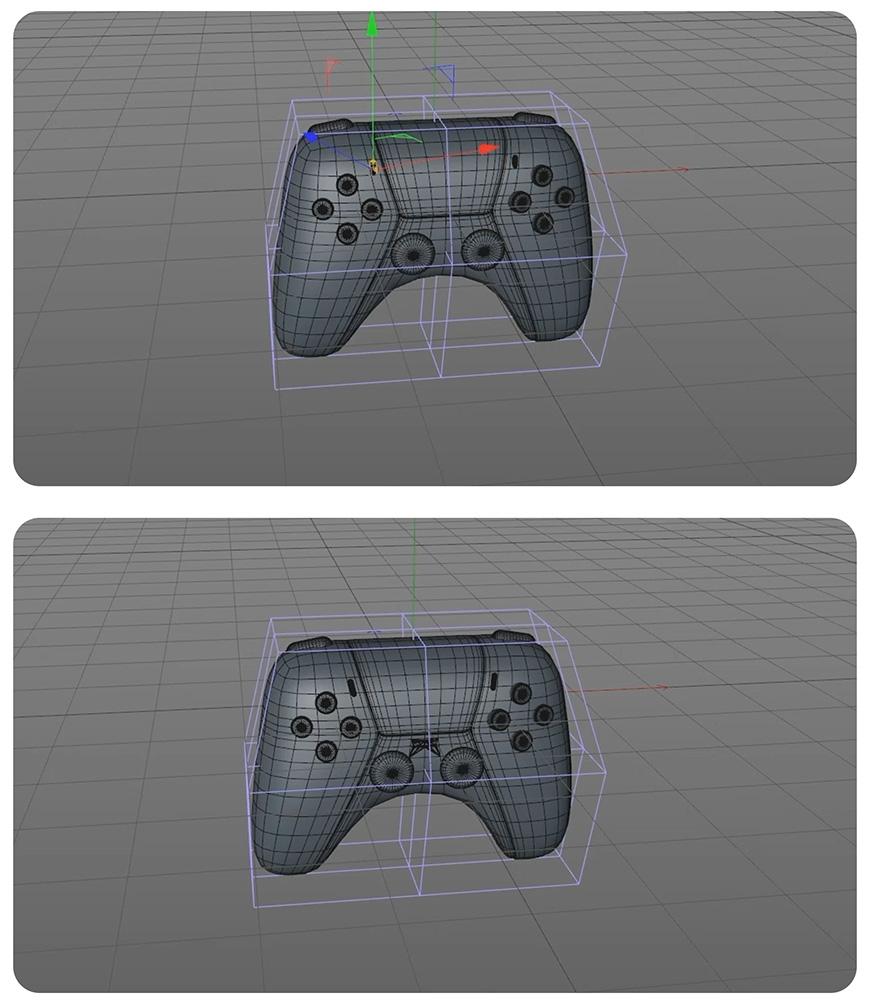 C4D教程!教你制作卡通风格PS5手柄!