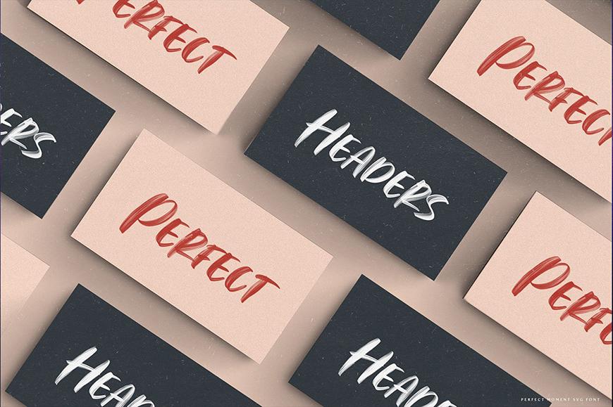 免费字体下载!粗笔刷手写感英文字体 – Perfect Moment