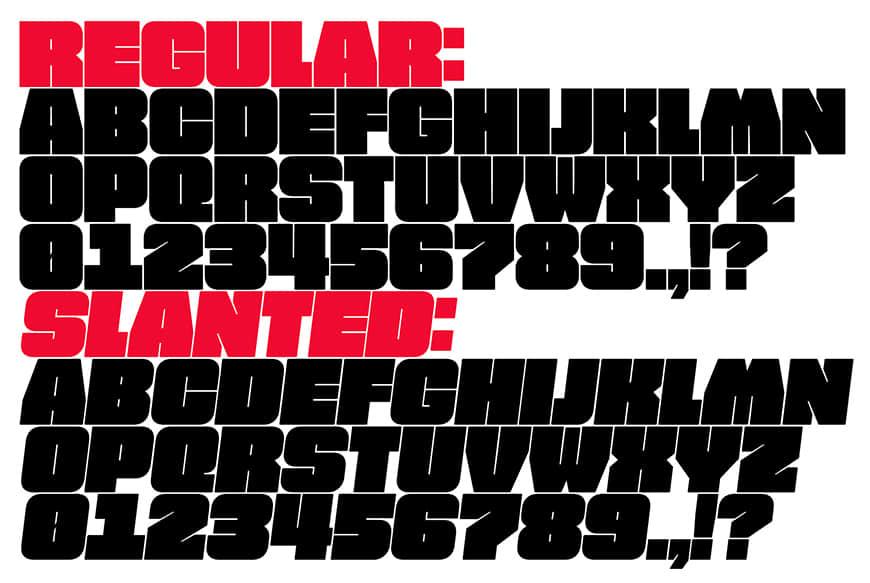 免费字体下载!一款两种样式超大字重的英文字体-FAT FONT
