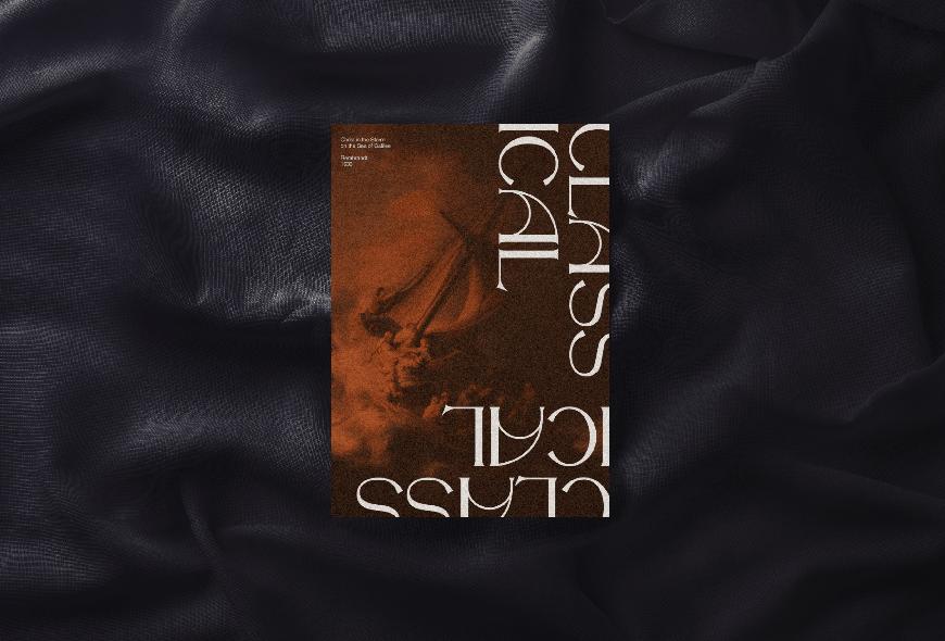 免费字体下载!一款古典曲线油画美感的英文字体-The Night Watch Font