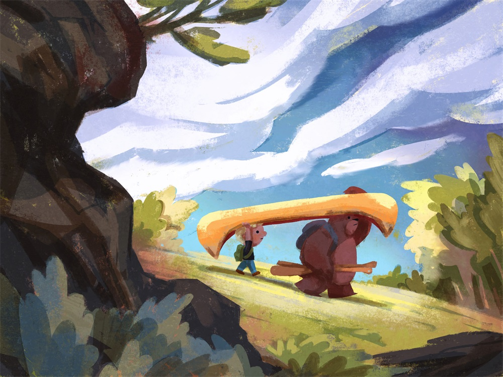 20款超暖心的儿童插画