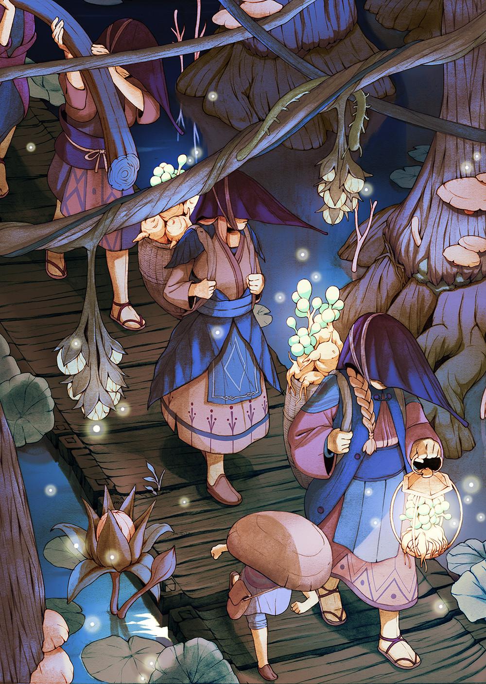 16款值得收藏的奇幻场景插画