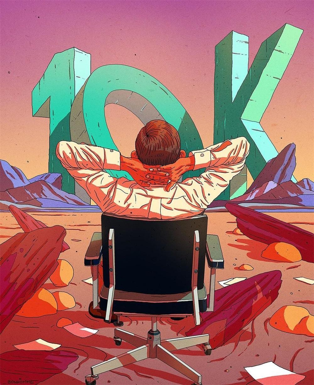 12款画风狂野的插画作品