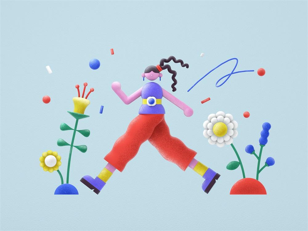 充满趣味性的3D插图