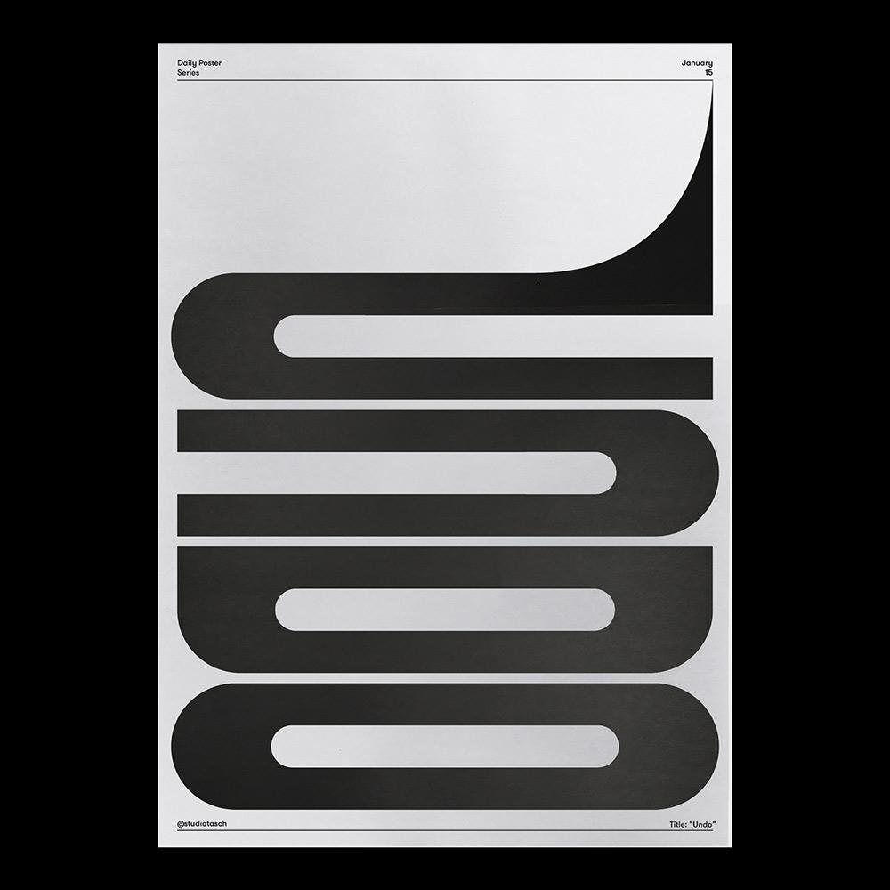 文字图形化!12张简洁明快的英文海报