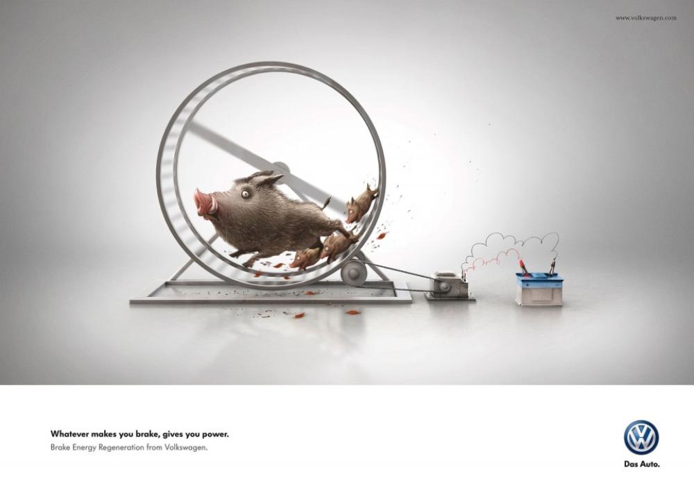 12张大众汽车广告海报设计