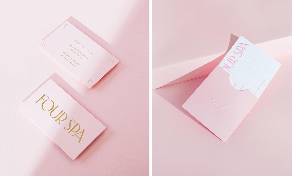粉色奢华!美甲SPA店品牌VI设计