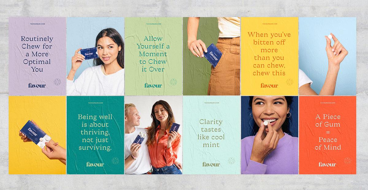 丰富色彩!口香糖包装设计