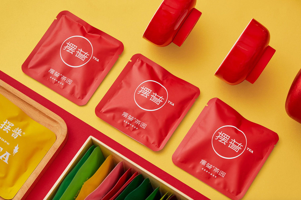 热情元素!茶叶新年礼盒包装设计