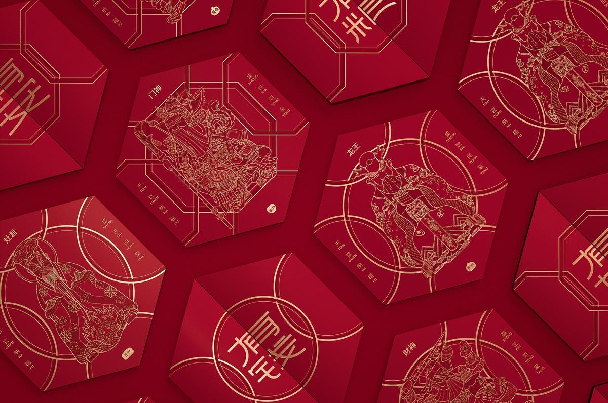大红灯笼!新年礼盒设计