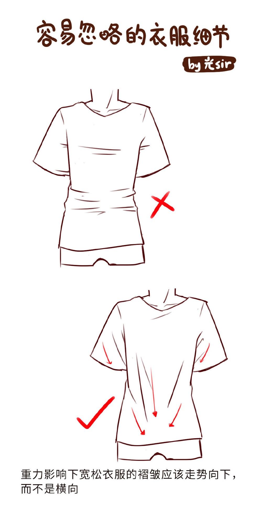 插画中容易忽略的衣服细节