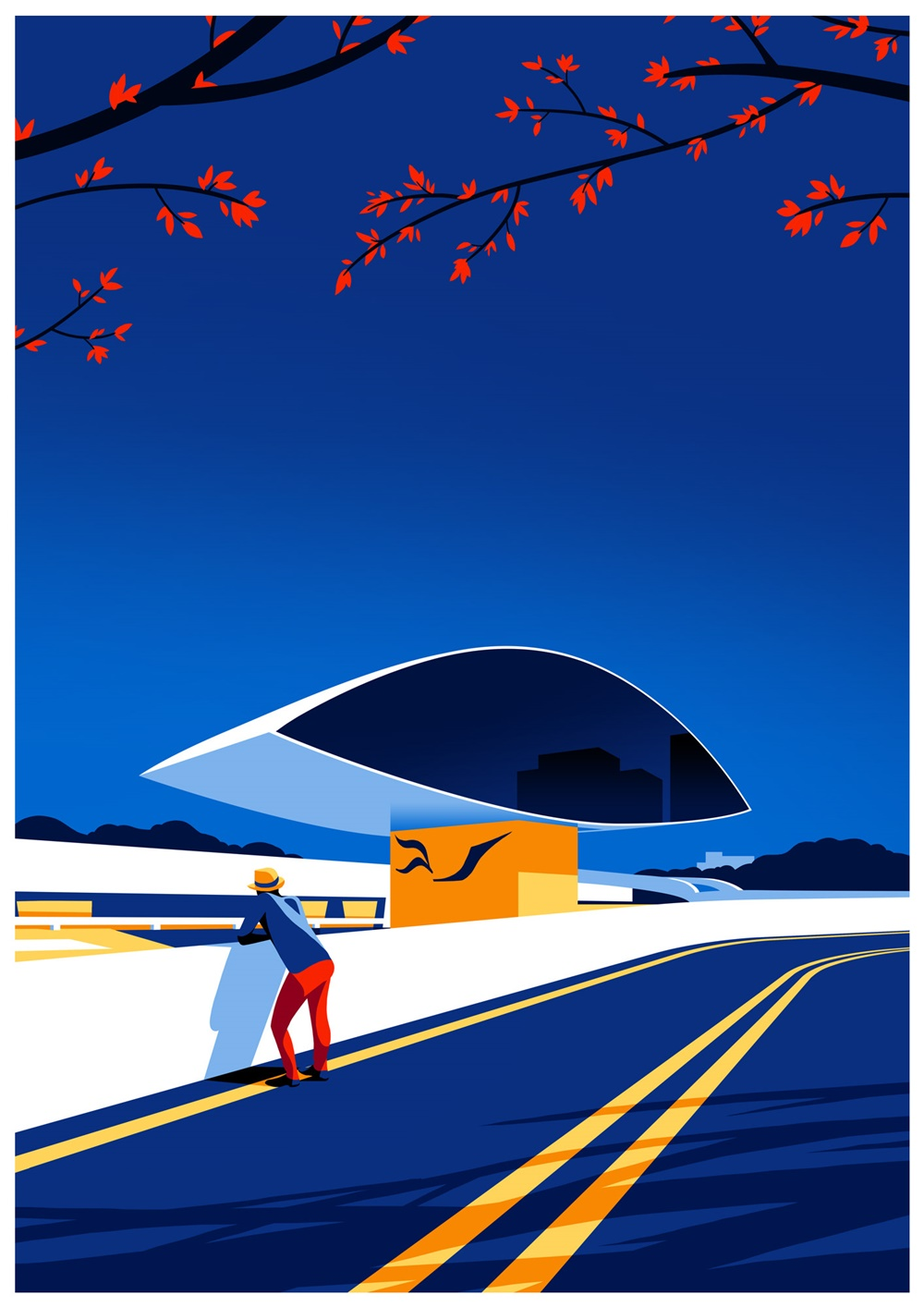 色块增彩!9款现代主义建筑插画作品