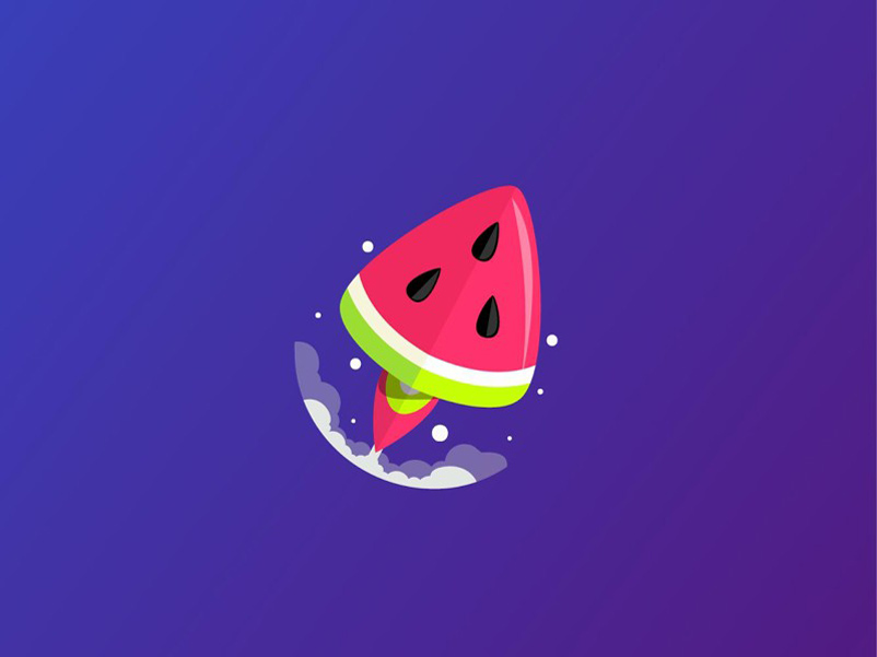 愉快吃瓜!20款西瓜元素Logo设计