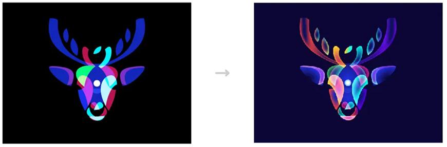 AI教程!教你绘制渐变风格暗空间动物头像!
