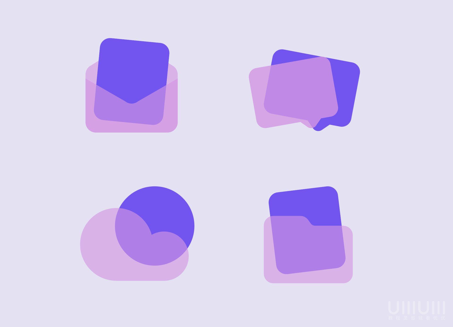 AI+PS教程!手把手教你制作毛玻璃质感UI图标!(含插件下载)