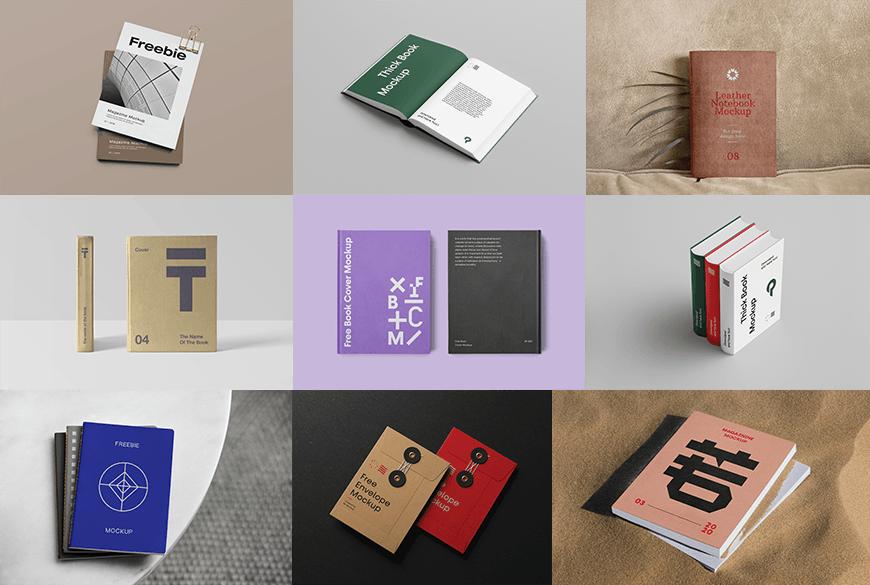 设计资源!105款免费可商用样机模板大合集(包装/海报/CD/杂志/折页等)