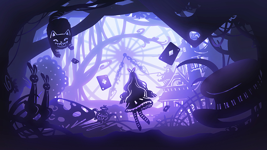 PS教程!纸雕灯效果梦幻童话主题插画!
