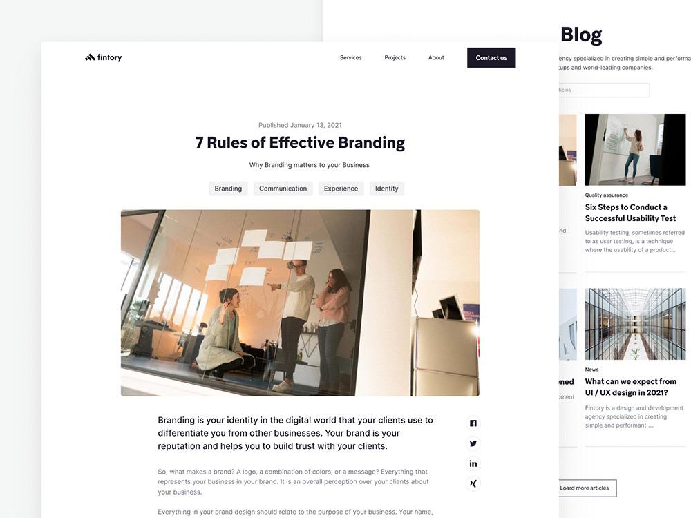 图文布局!12个资讯博客类网页设计