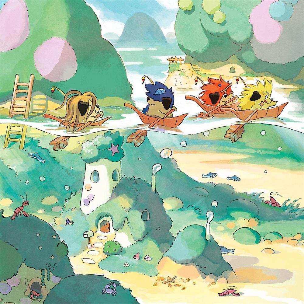 水彩质感!10款儿童艺术插画