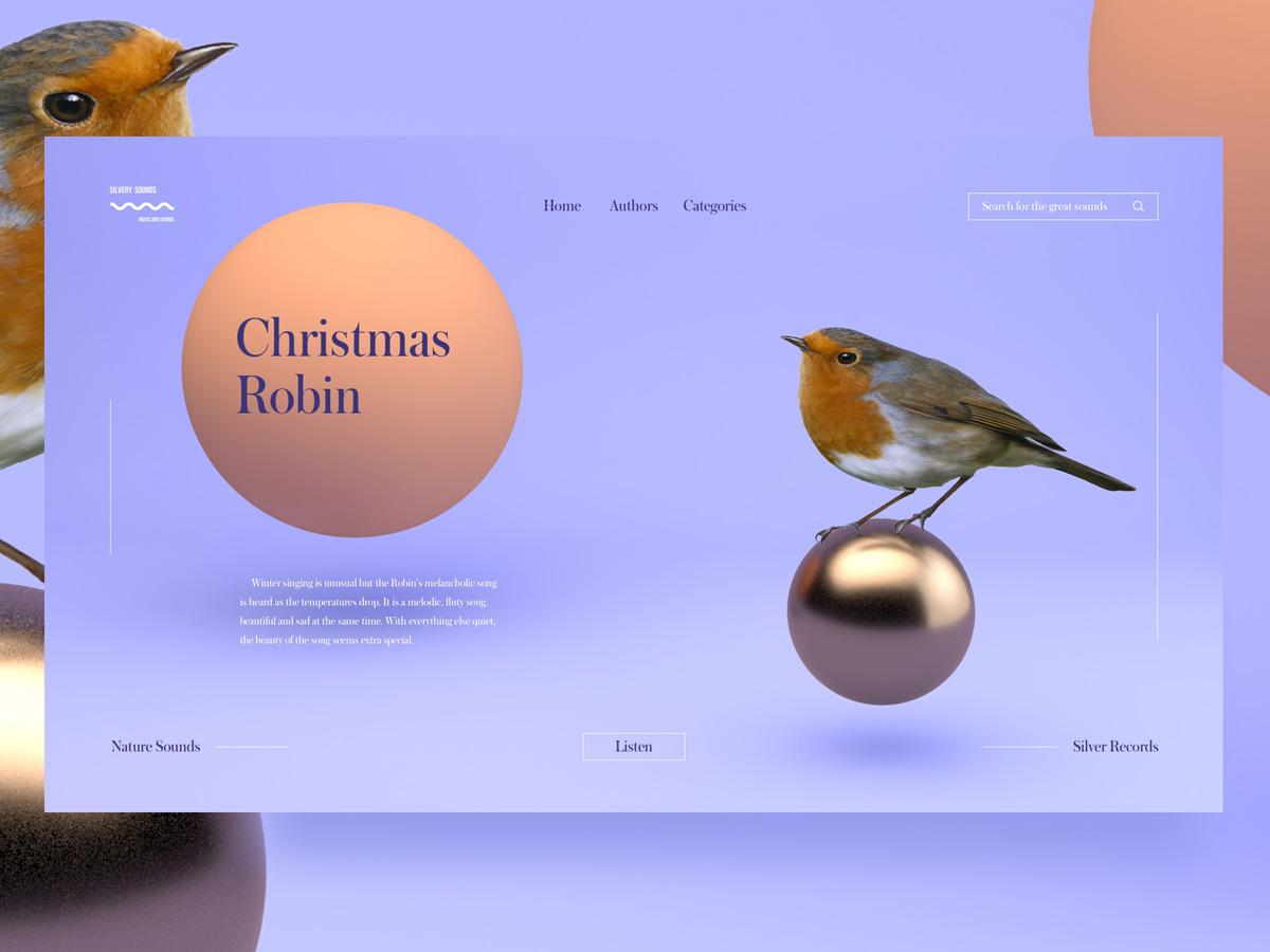 憨态可掬!12组鸟类网页设计