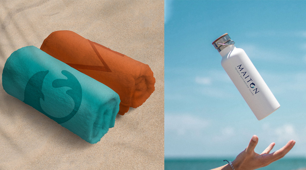蓝色海洋!岛屿旅游品牌VI设计