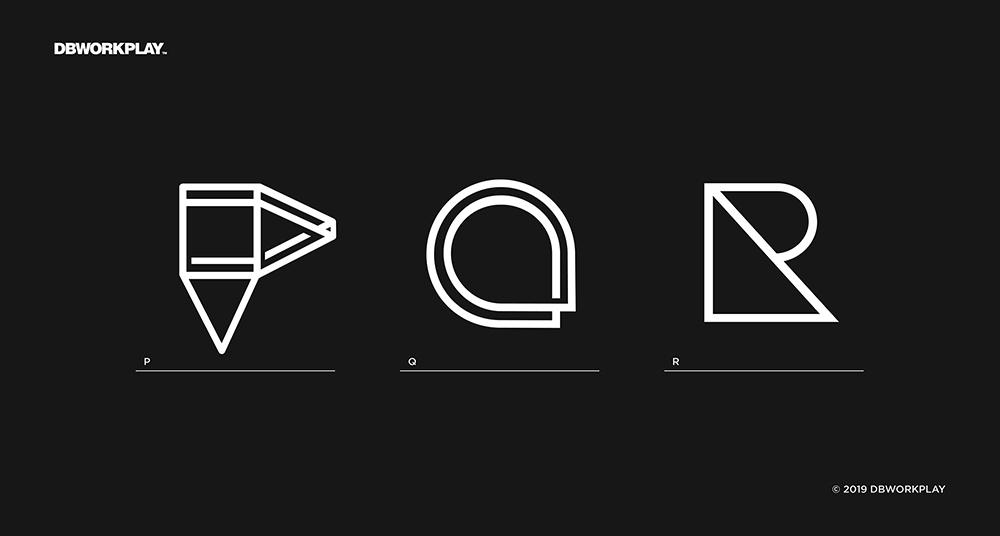 极简有趣!26款几何组合字体设计