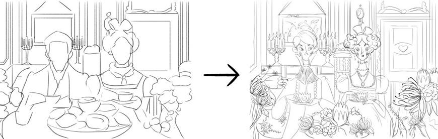 手绘教程!带你轻松摆脱插画构图烦恼!(含实例讲解及笔刷下载)