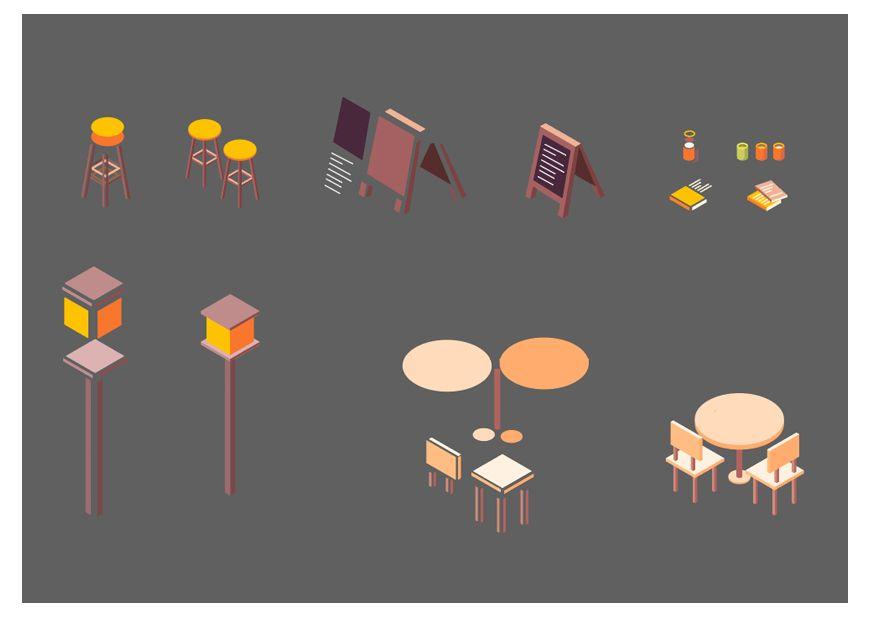 AI教程!教你绘制等距视角风格可爱咖啡厅!