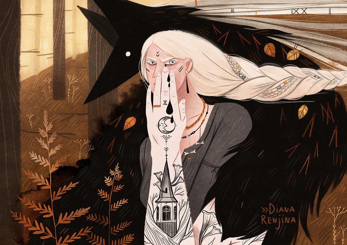 12款具有神话色彩的图书插画