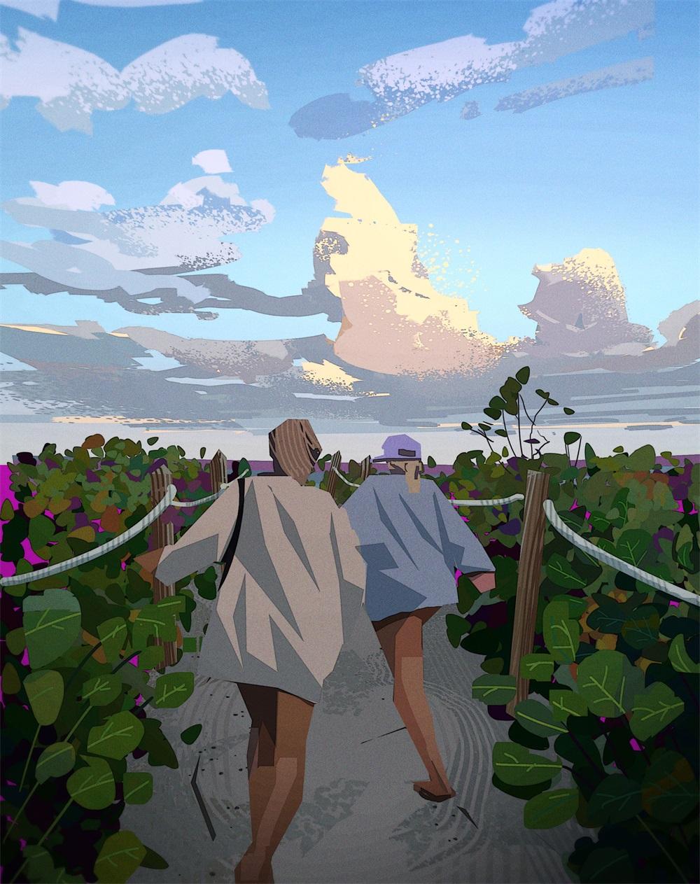 旅途风光!9款清透的景观插画