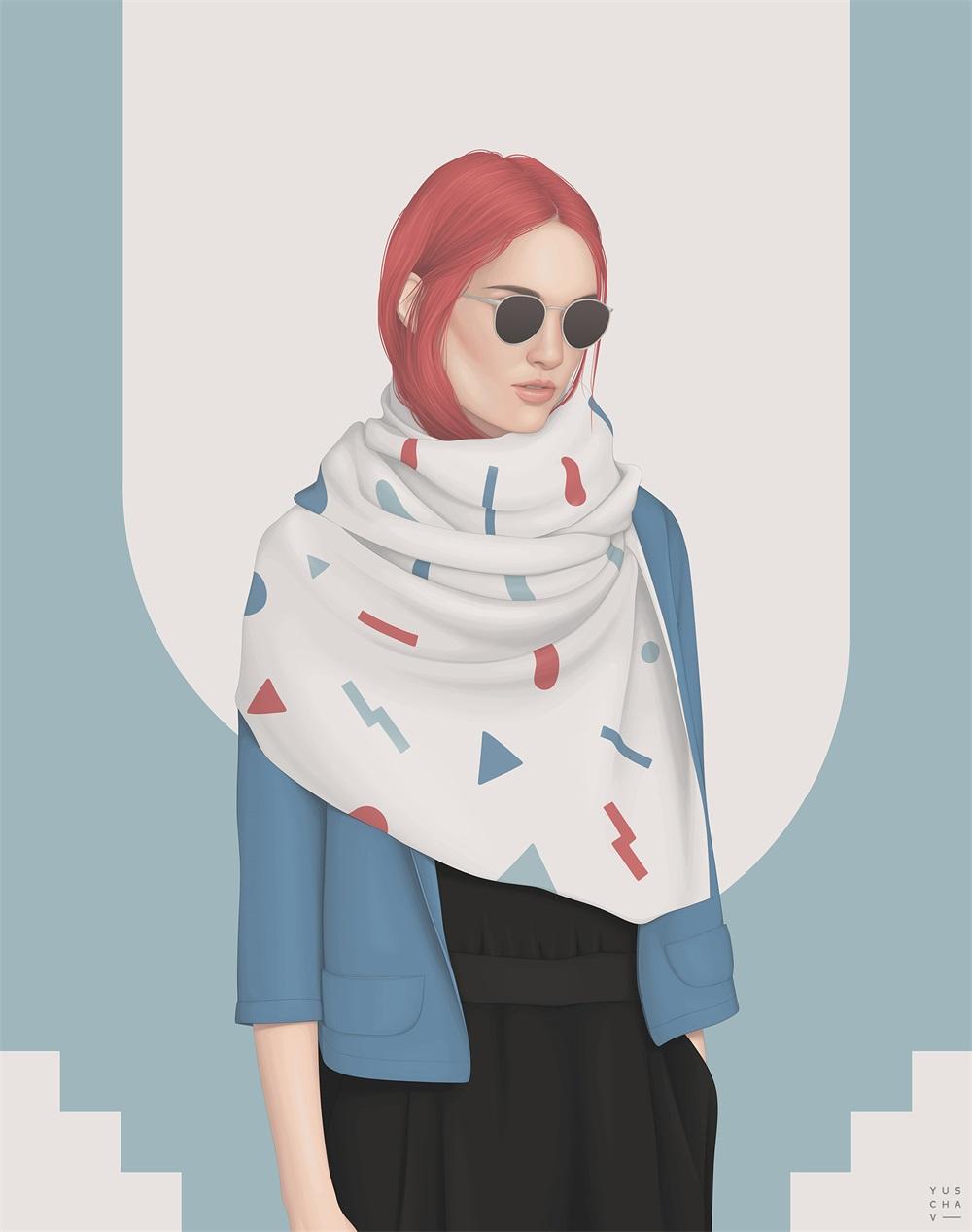14款简约时尚的人物插画