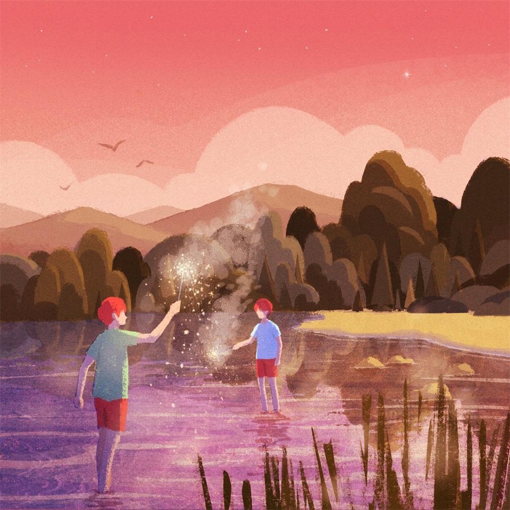 12款色彩明亮的场景插画 