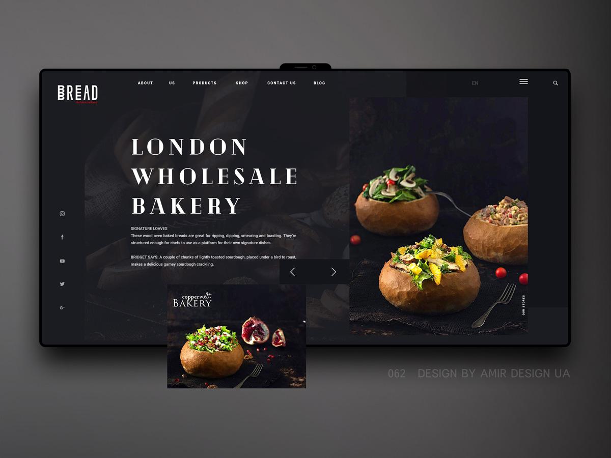 复古简约!12组面包类网页设计
