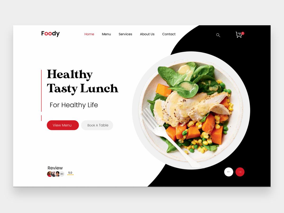 让人食欲大开的12组食物类网页设计