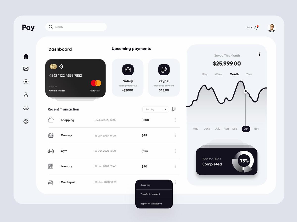 如何设计一个好看的财务仪表呢?