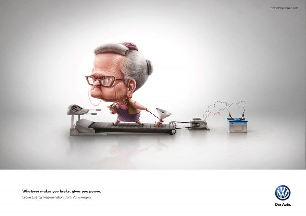 专心驾驶!大众汽车创意广告海报
