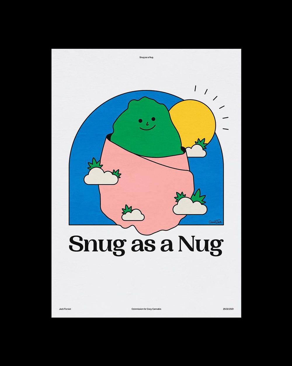 可爱有趣的创意插画海报设计!