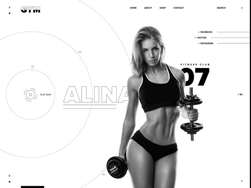 大汗淋漓!12张健身网页设计