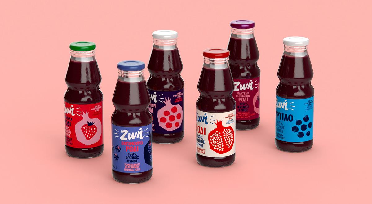 欢乐剪纸!果汁饮料包装设计