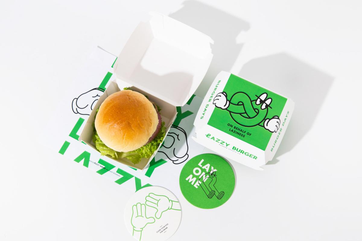 轻食感!汉堡快餐品牌VI设计