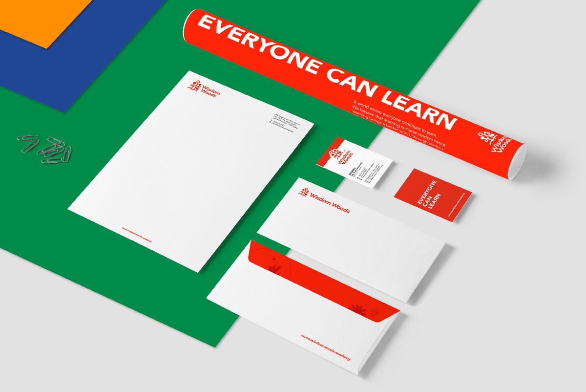 时尚红色!教育培训品牌VI设计