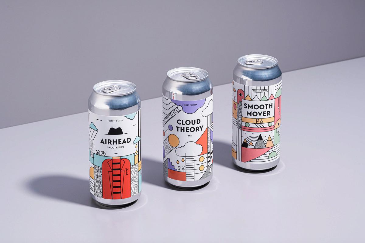 创意视觉!啤酒易拉罐包装设计