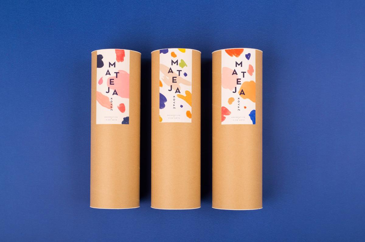 艺术色块!个人工作室品牌VI设计