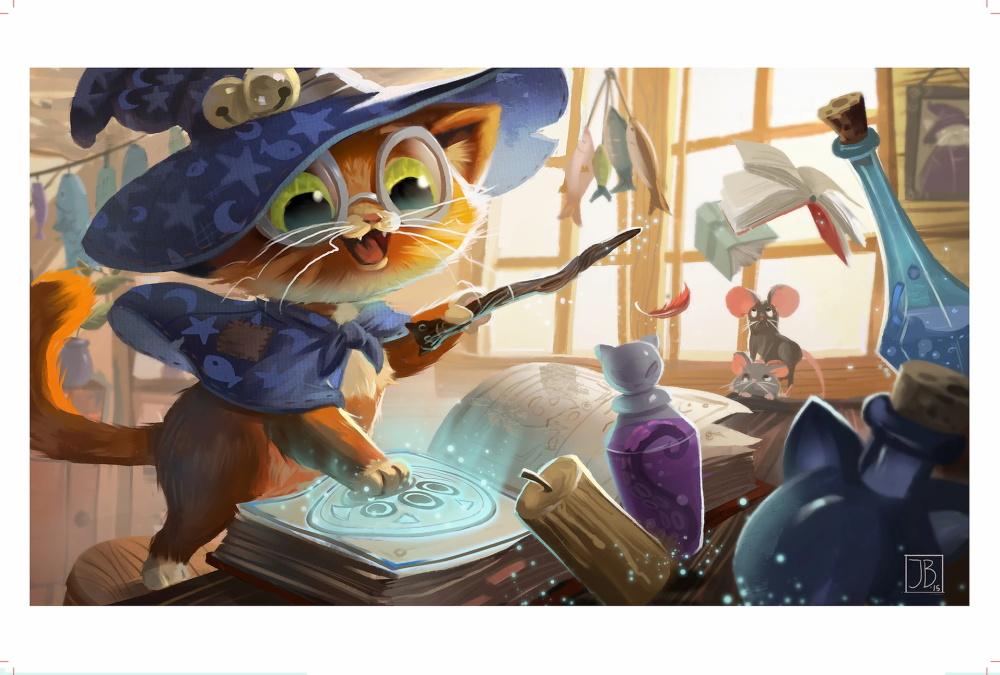 极具童话色彩氛围的插画
